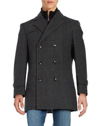 Lauren Ralph Lauren Double Breasted Pea Coat Grey
