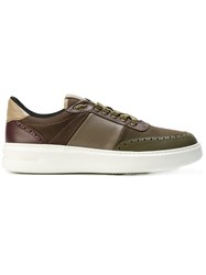 Brimarts Platform Sneakers Calf Leather Polyester Rubber Brown