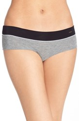 Women's Kensie 'Kate' Hipster Bikini Briefs Dark Grey Heather
