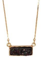 14Th And Union Druzy Bar Necklace Black