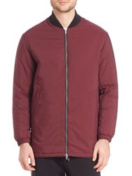 Mcq By Alexander Mcqueen Filled Hybrid Jacket Burgundy