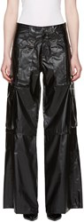 Misbhv Black Faux Leather Cargo Pants