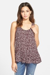 Frenchi R 'Easy' Floral Print Tank Juniors Red