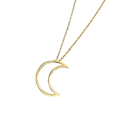 London Road Portobello Starry Night 9Ct Gold Open Moon Pendant