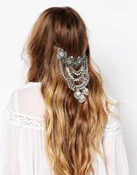 Love Rocks Statement Hair Drape Silver