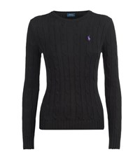 Polo Ralph Lauren Julianna Cable Knit Sweater Female Black