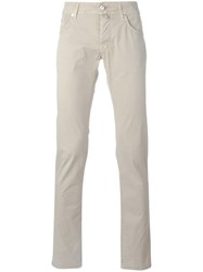 Jacob Cohen Slim Fit Trousers Nude Neutrals