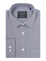 Howick Men's Tailored Beadell Puppytooth Shirt Navy