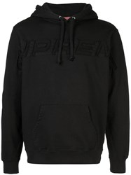 Supreme Logo Set In Hoodie Black