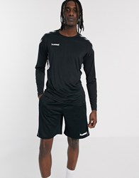 Hummel Tech Move Jersey Long Sleeve Top In Black