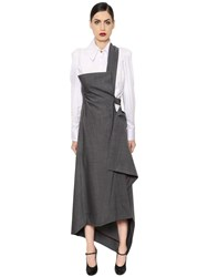 Vivienne Westwood Stretch Cool Wool Skirt W Strap