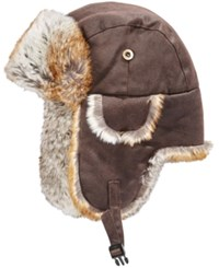 Woolrich Men's Weathered Trapper Hat Brown