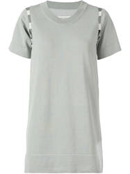 Maison Martin Margiela Short Sweater Dress Grey