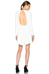 Victoria Victoria Beckham Long Sleeve Open Back Dress In White