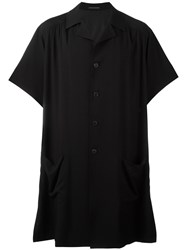 Yohji Yamamoto Long Length Pocket Shirt Black