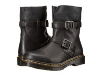 Dr. Martens Kristy Slouch Rigger Boot Black Virginia Darkend Suede Women's Pull On Boots