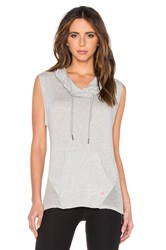 Pink Lotus Maintain Front Pocket Cowl Hoodie Vest Gray