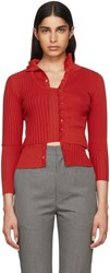 Beautiful People Red Double Layer Cardigan