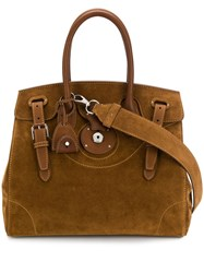 Ralph Lauren Collection Top Handle Tote Brown