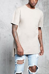 Forever 21 High Low Raw Cut Tee