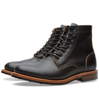 Oak Street Bootmakers Dainite Sole Trench Boot Black Chromexcel