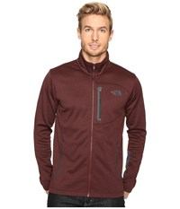 The North Face Canyonlands Full Zip Sweatshirt Sequoia Red Heather Asphalt Grey Men's Coat Brown