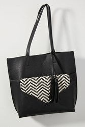 Anthropologie Thoma Clutch Tote Bag Black White