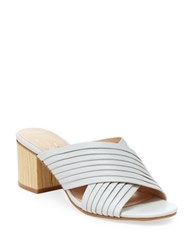 Nanette By Nanette Lepore Ray Leather Double Strap Slip On Sandals Ice White