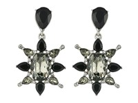 Oscar De La Renta Tropical Bloom Star C Earrings Black Diamond