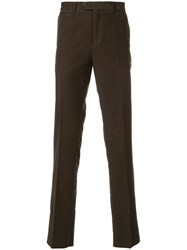 Gieves And Hawkes Casual Chino Trousers Cotton Green