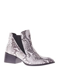 Sol Sana Rico Embossed Leather Ankle Boots Black White