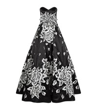 Jovani Embroidered Floral Evening Gown Female Black