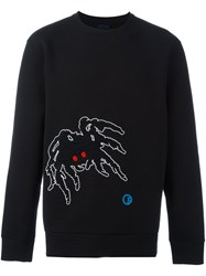 Lanvin Ribbed Spider Detail Sweatshirt Black
