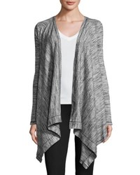 Three Dots Savanna Draped Cardigan Granite