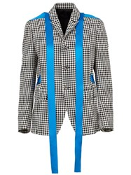 Undercover Checked Blazer Jacket Black