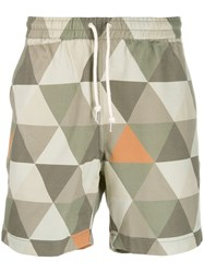 Universal Works Geometric Print Shorts Neutrals