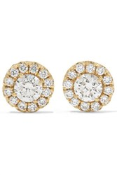 Suzanne Kalan 18 Karat Gold Diamond Earrings One Size
