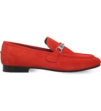 Rag And Bone Cooper Suede Loafers Red