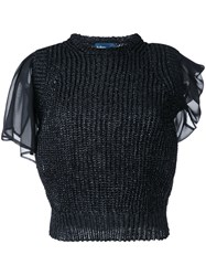 Kolor Layered Knit Blouse Black