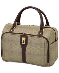London Fog Knightsbridge 17 Cabin Tote Available In Brown And Navy Glen Plaid Macy's Exclusive Colors Brown Glen Plaid