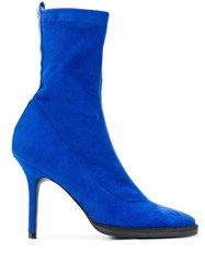 Haider Ackermann High Heel Boots Blue
