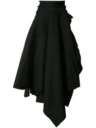 Maticevski Layered Maxi Skirt Women Modal 12 Black