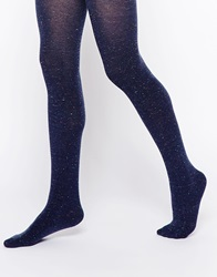 Gipsy Speckled Warm Winter Tights Denim