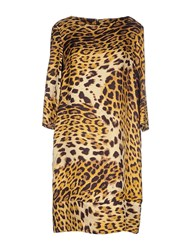 Class Roberto Cavalli Dresses Knee Length Dresses Women Yellow