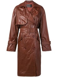 Christian Wijnants Chikal Trench Coat Brown