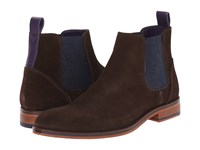 Ted Baker Camroon 4 Dark Brown Suede Men's Pull On Boots