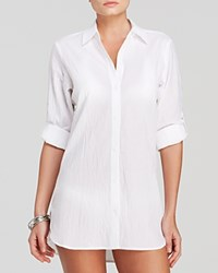 Tommy Bahama Crinkle Boyfriend Shirt Swim Cover Up