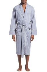 Men's Daniel Buchler Washed Jersey Cotton Blend Robe Blue