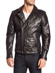 Joe's Jeans Lamb Leather Jacket Black
