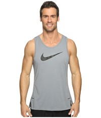 Nike Dry Elite Basketball Tank Cool Grey Cool Grey Cool Grey Black Men's Sleeveless Gray